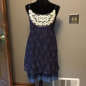 Altar'd State navy lace dress